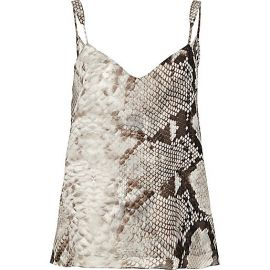Snake print cami at River Island