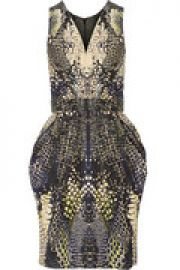 Snake-print faille dress at The Outnet