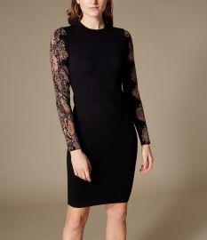 Snakeskin-Print Sleeve Dress at Karen Millen