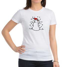Snowman Santa Tee at Cafepress