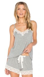 Snuggle Knit Lace Cami at Revolve