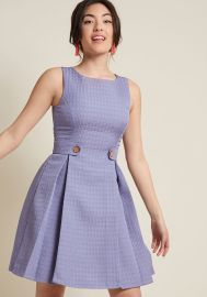 So Sixties A-Line Dress in Violet at ModCloth