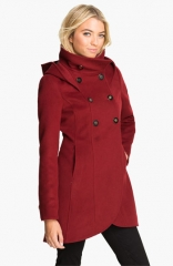 Soa andamp Kyo Hooded Wool Coat at Nordstrom