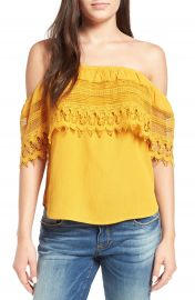 Socialite Crochet Off the Shoulder Top at Nordstrom