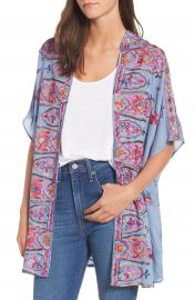 Socialite Embroidered Kimono at Nordstrom