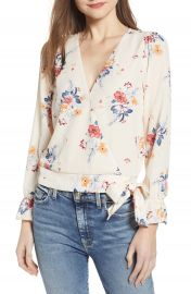 Socialite Floral Faux Wrap Top   Nordstrom at Nordstrom