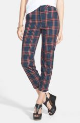 Socialite Plaid Crop Pants at Nordstrom