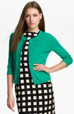 Sofia cardigan in green by Kate Spade at Nordstrom