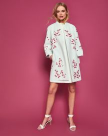 Soft Blossom embroidered kimono coat at Ted Baker