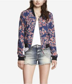 Soft Floral Bomber Jacket at Express