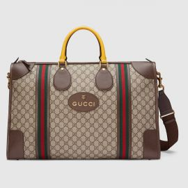 Soft GG Supreme Duffle Bag with Web by Gucci at Gucci