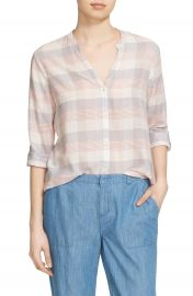Soft Joie  Dane  Plaid Roll Sleeve Shirt at Nordstrom