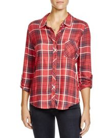 Soft Joie Anabella Plaid Twill Shirt at Bloomingdales