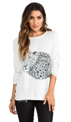 Soft Joie Annora Leopard Sweatshirt in Heather Grey  REVOLVE at Revolve