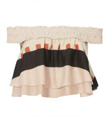 Soleil Abstract Print Crop Top at Intermix