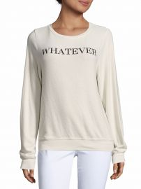 Solid Letter-Print Sweatshirt by Wildfox at Saks Off 5th