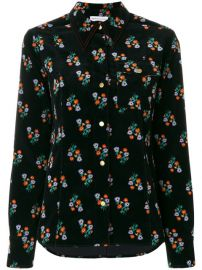 Sonia Rykiel Velvet Floral Print Shirt at Farfetch