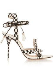 Sophia Webster  Poppy checked leather sandals at Net A Porter