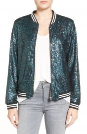 Soprano Sequin Bomber at Nordstrom