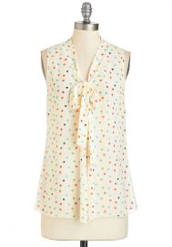 South Florida Spree Top in Rainbow Dots at ModCloth