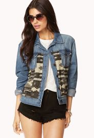 Southwestern Hero Denim Jacket  at Forever 21