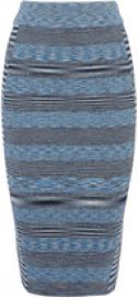 Space Dye Viscose Stripe Bandage Skirt at Karen Millen