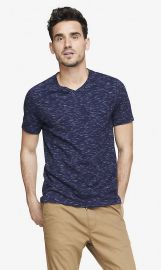 Space dyed tee at Express