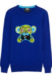 Speak No Evil Monkey sequined cotton sweater at The Outnet