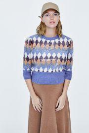 Special Edition Sequin Argyle Sweater by Zara at Zara