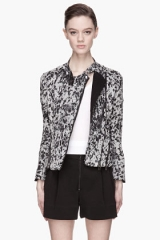 Speckled Corded Silk Biker Jacket by Phillip Lim at SSENSE
