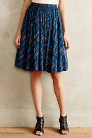 Speckled Plaid Skirt at Anthropologie