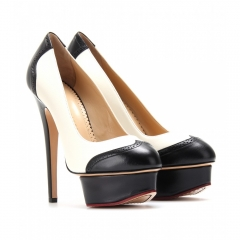 Spectator Dolly Leather Pumps by Charlotte Olympia at My Theresa