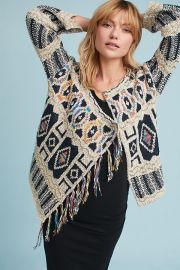 Spectra Fringed Cardigan by Moth at Anthropologie at Anthropologie