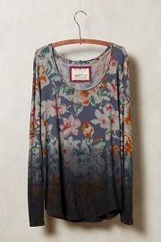 Spectrum Tee in Blue Floral at Anthropologie