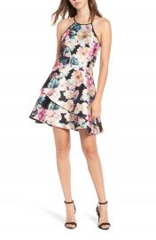 Speechless Floral Skater Dress at Nordstrom