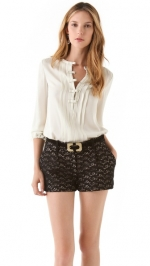 Rachels bow blouse by DVF at Shopbop