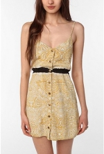 Spencers yellow shirtdress at Urban Outfitters