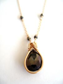 Spinel Gemstone Necklace by Vitrine at Etsy