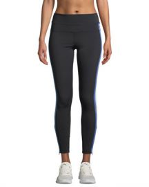 Spiritual Gangster Side-Stripe High-Rise Activewear Track Tights at Neiman Marcus