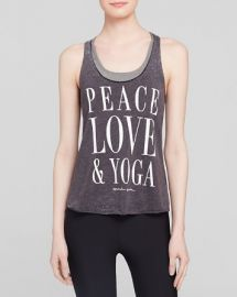 Spiritual Gangster Tank - Peace Love andamp Yoga at Bloomingdales