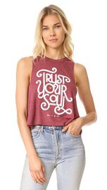 Spiritual Gangster Trust Your Soul Cropped Tank at Shopbop
