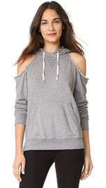Splendid Soft Cotton Cold Shoulder Hoodie at Shopbop