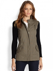 Splendid - Cotton Twill and Knit Military Anorak at Saks Fifth Avenue