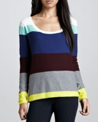Splendid Brighton Striped Sweater Multi at Neiman Marcus
