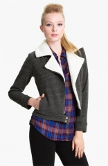 Splendid Faux Shearling Lined Moto Jacket at Nordstrom
