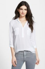 Splendid Lightweight Chest Pocket Shirt in White at Nordstrom
