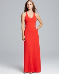 Splendid Maxi Dress - Racerback Jersey in red at Bloomingdales