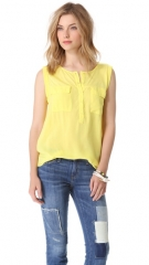 Splendid Pocket Sleeveless Shirt at Shopbop