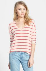 Splendid Stripe Jersey Pocket Tee at Nordstrom