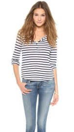 Splendid Striped Henley Top at Shopbop